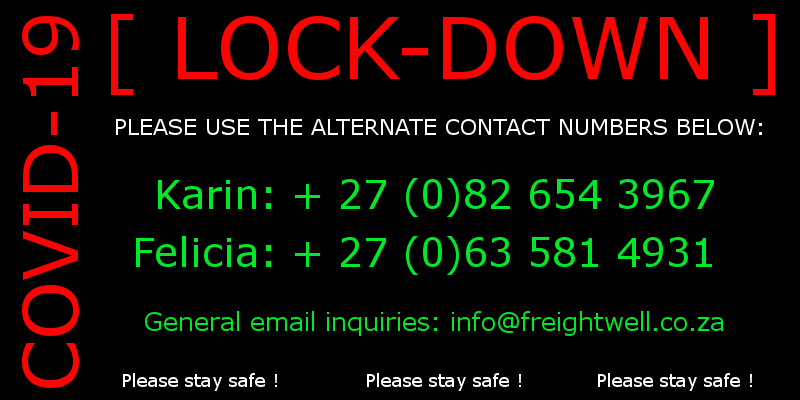 alternate contact details for freightwell